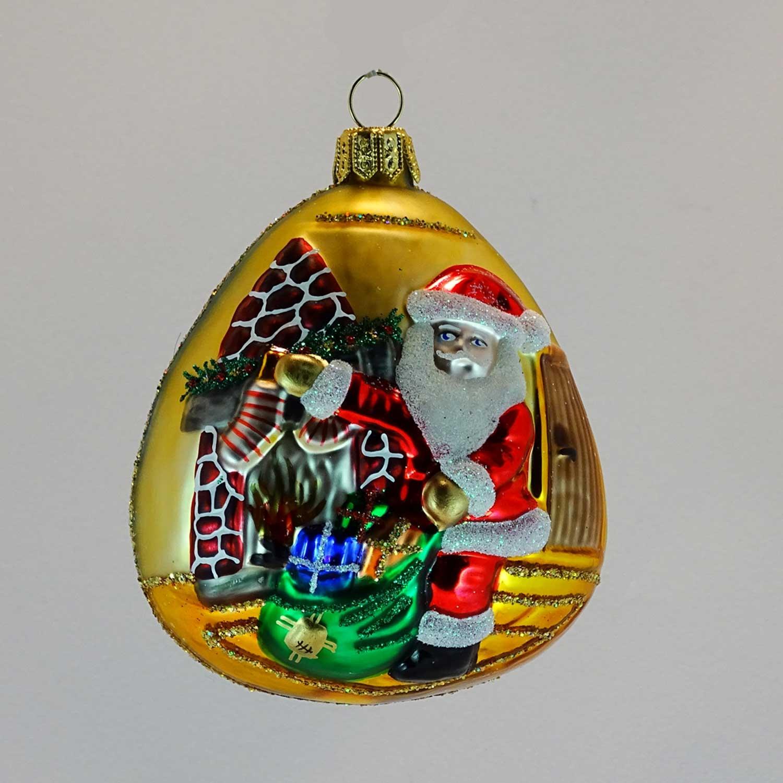 Glas Ornament Santa