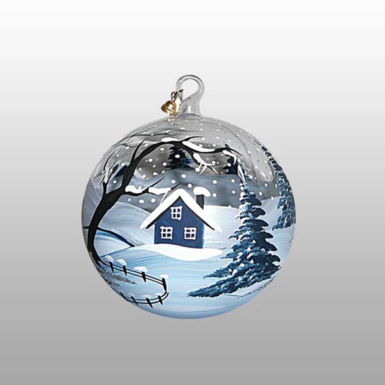 Weihnachtskugel Eiszeit-9cm