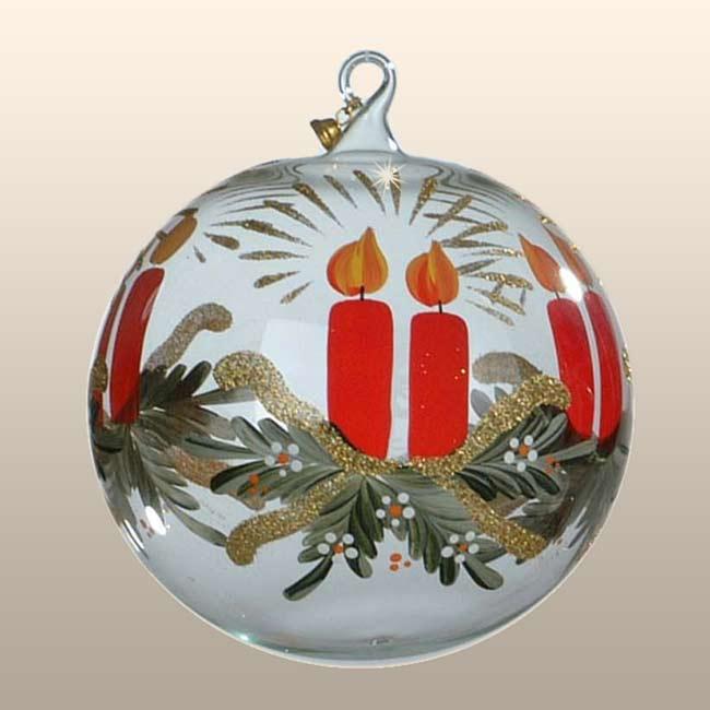 Glaskugel Adventskerze - passend zur Adventszeit