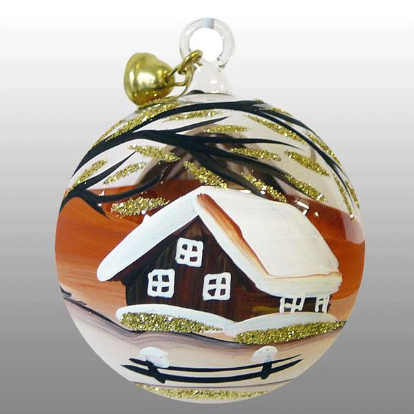 Weihnachtskugel Goldregen-5cm