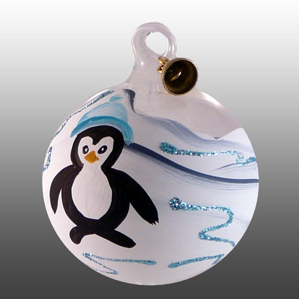 Glaskugel Pinguin-05cm