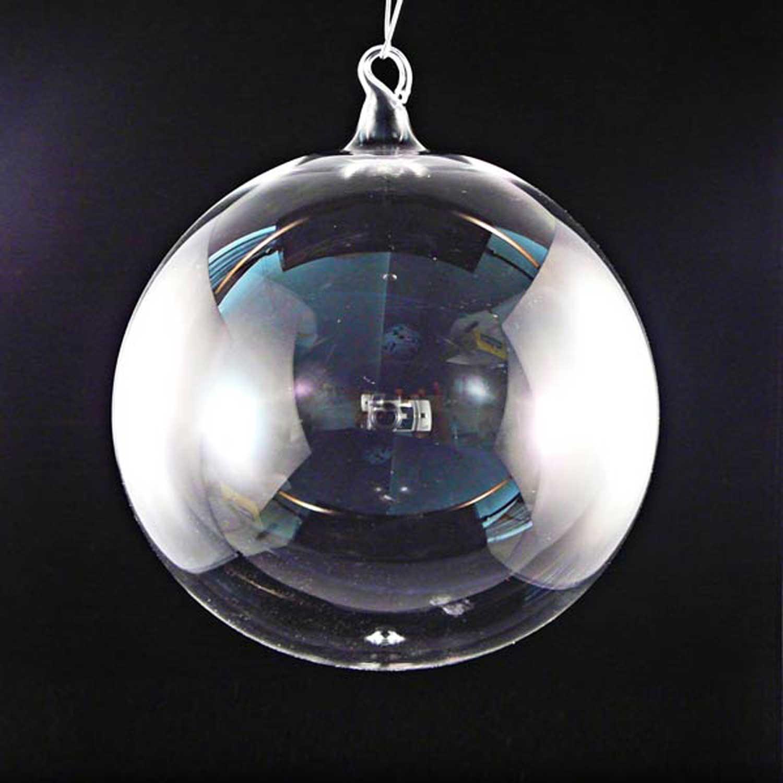 Transparente Glaskugel 9cm