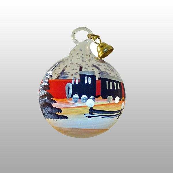 Miniaturglaskugel Eisenbahn-3cm