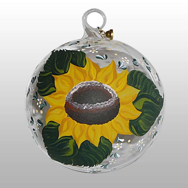 Glaskugel Sonnenblume-11cm