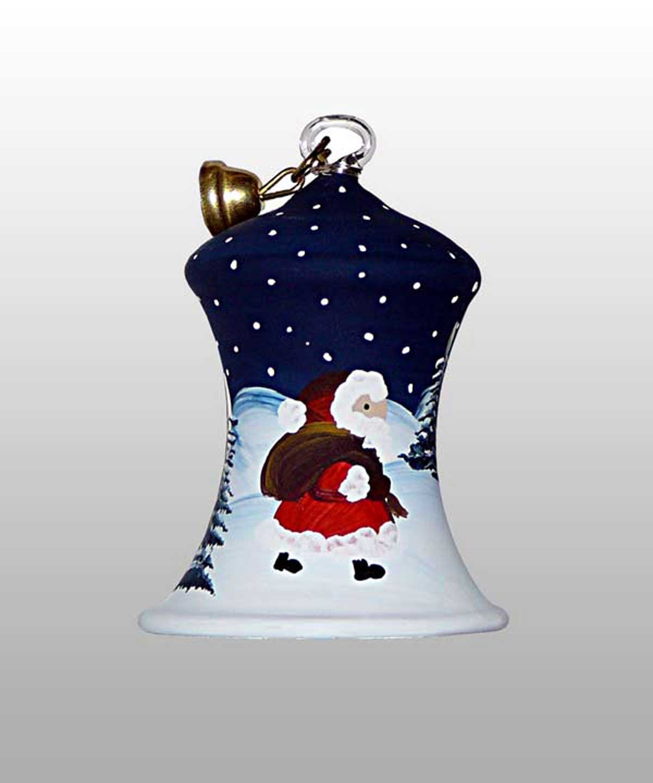 Weihnachtsmann Glasglocke