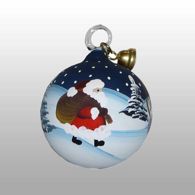 Weihnachtsmann Glaskugel-4cm