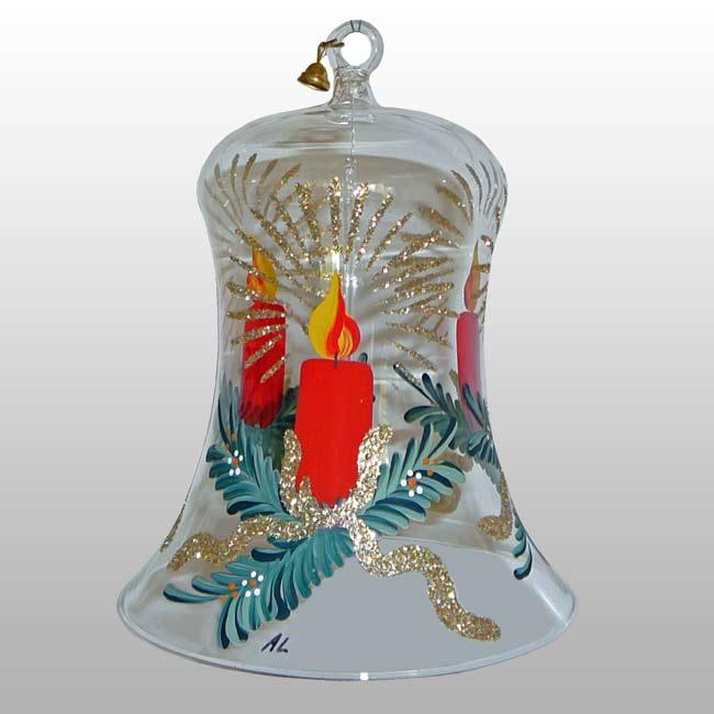 Glasglocke Adventskerze-11cm