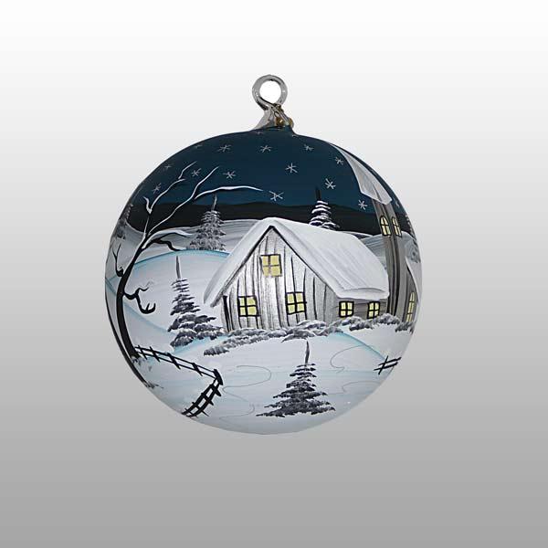 Glaskugel Polarnacht-9cm