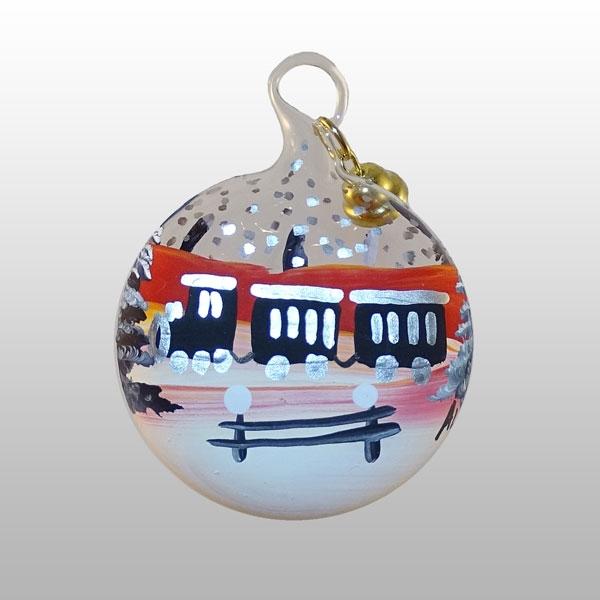 Miniaturglaskugel Eisenbahn-4cm