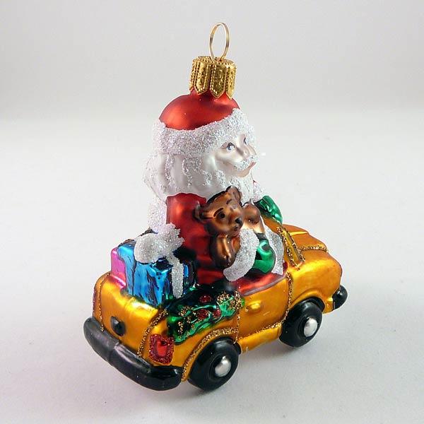 Weihnachtsmann mit Auto