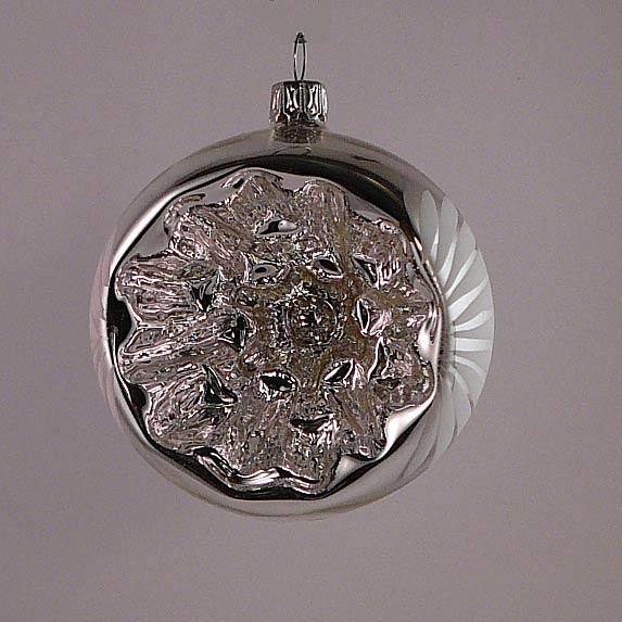 Reflexglaskugel mit Wölbung 7 cm