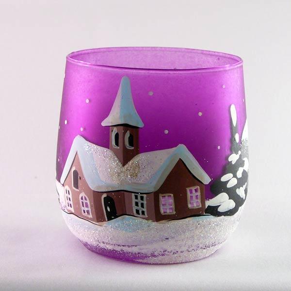Windlichtbecher klein-Violett