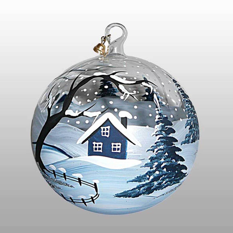 Weihnachtskugel Eiszeit-13cm