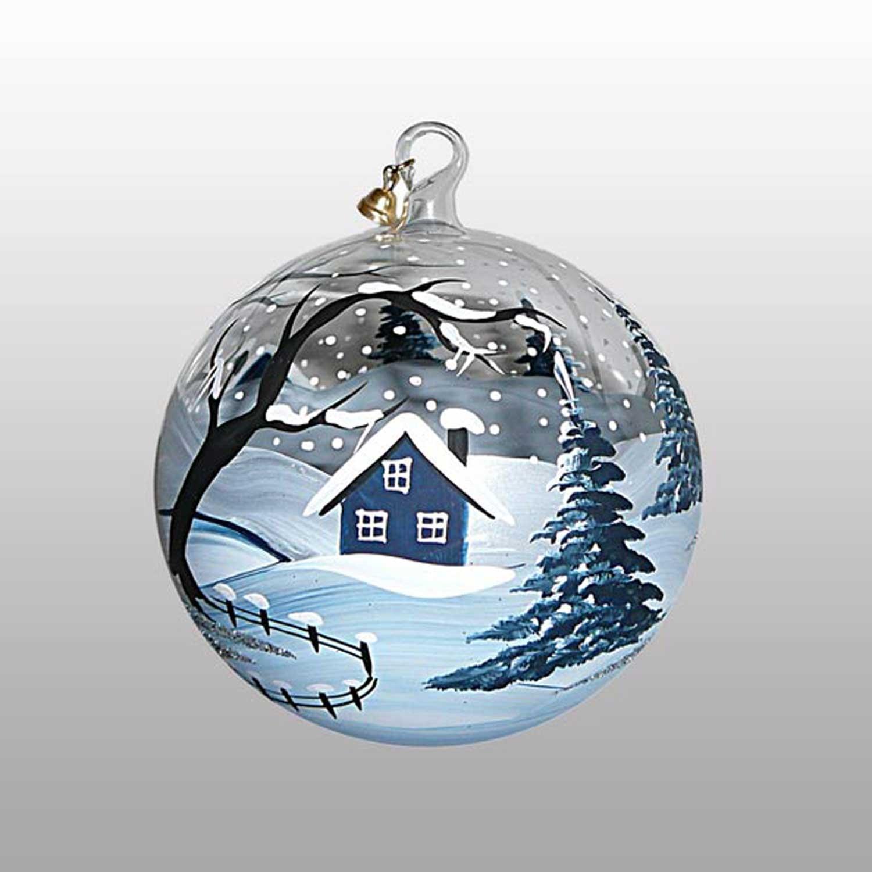 Weihnachtskugel Eiszeit-11cm