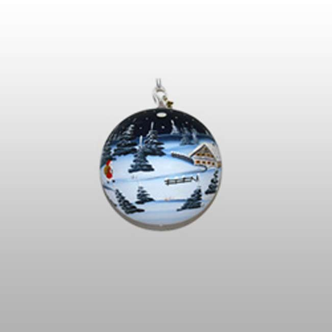 Glaskugel Kristallnacht-9cm