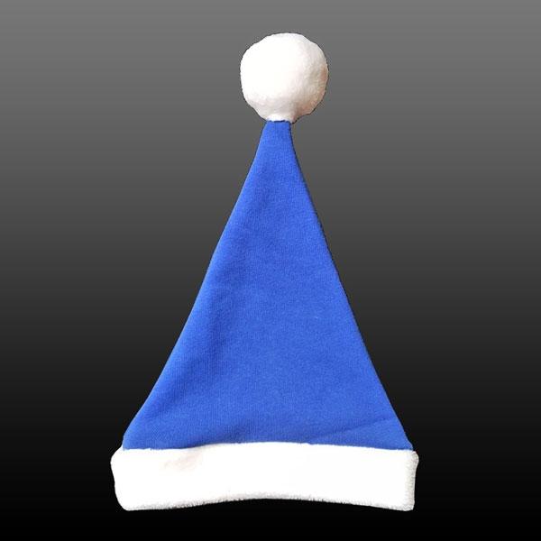 Weihnachts Babymütze-Blau-3-8 Monate