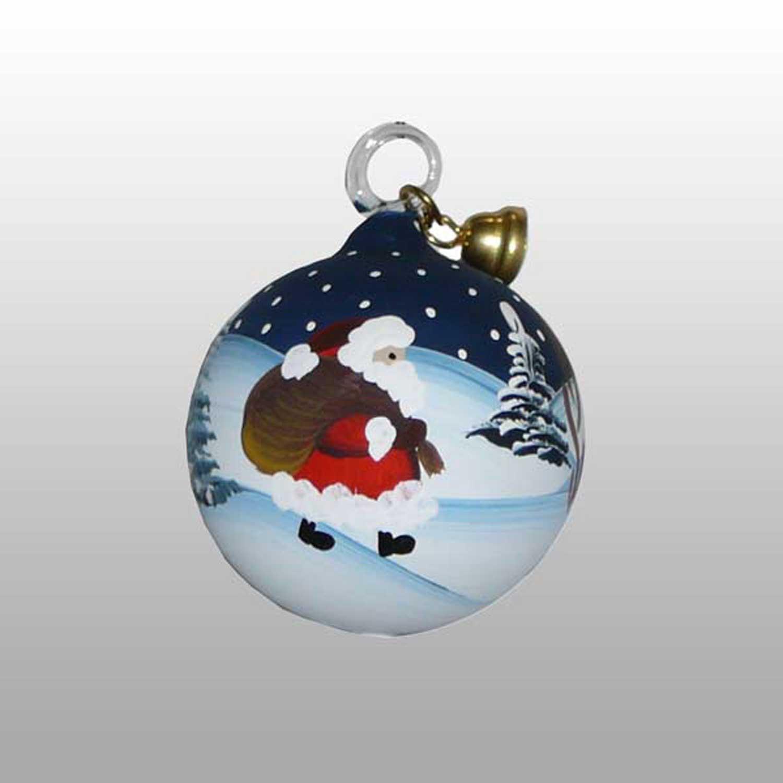 Weihnachtsmann Glaskugel-3cm