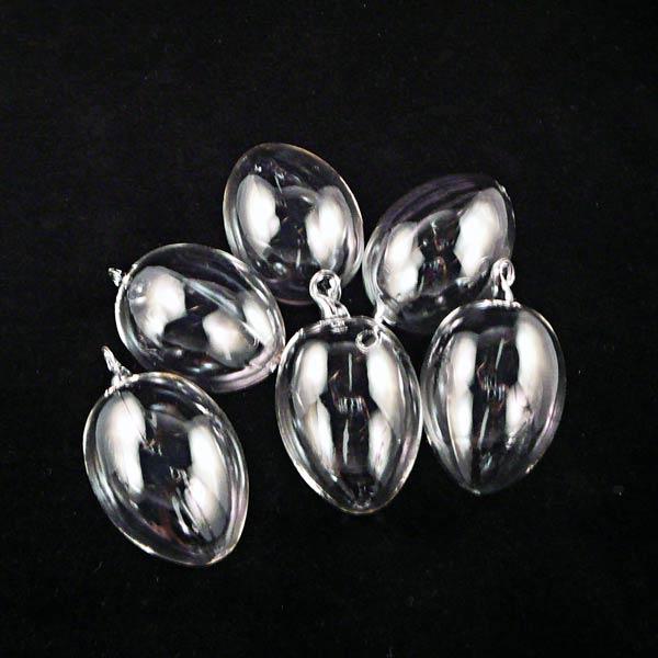 6er Pack Glasklare Ostereier