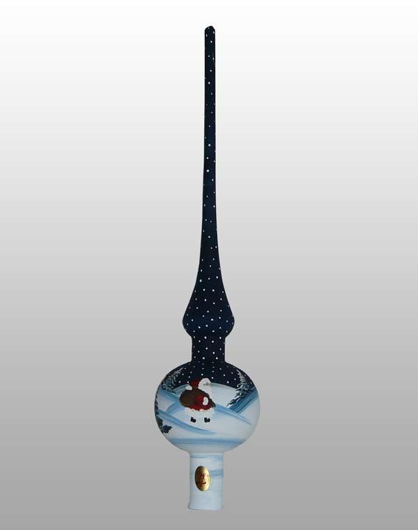 Weihnachtsmann Baumspitze-7cm