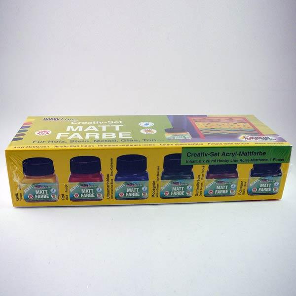 HobbyLine Glasmal-Farbsortiment 6x20ml