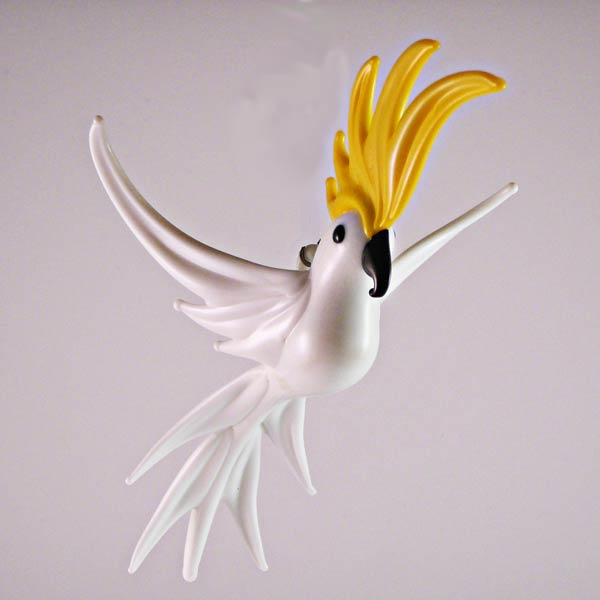 Glasfigur Kakadu Weiß 15 cm
