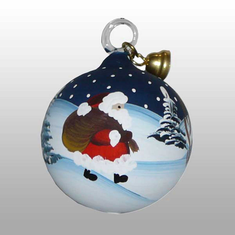 Weihnachtsmann Glaskugel-5cm