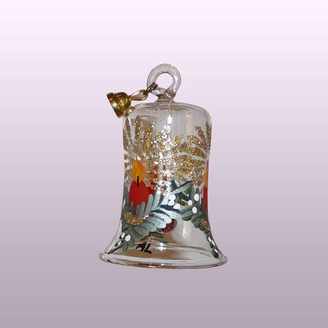 Glasglocke Adventskerze-5cm