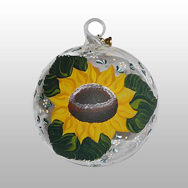 Glaskugel Sonnenblume-09cm