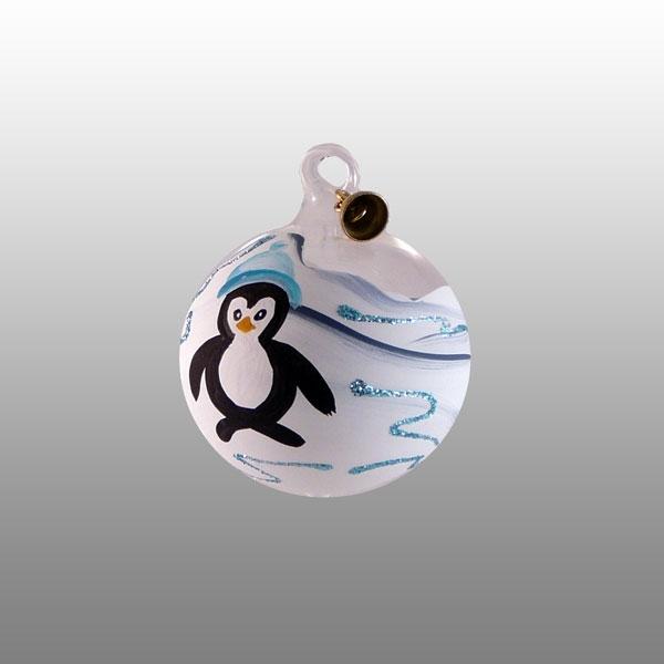 Glaskugel Pinguin-03cm