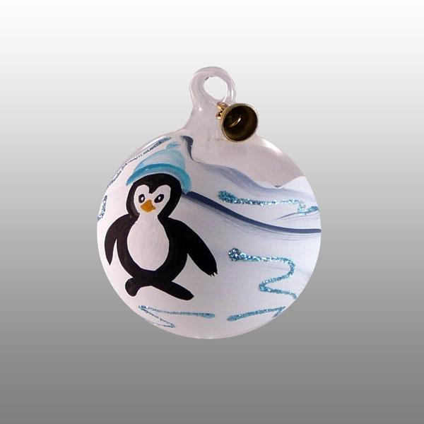Glaskugel Pinguin-04cm